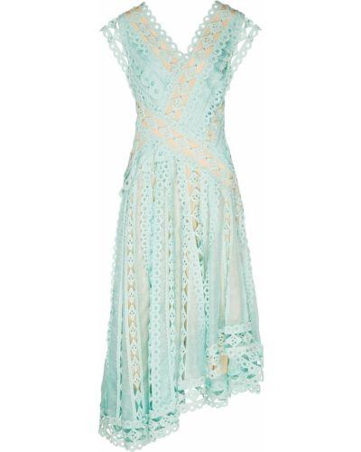 Платье шелковое расклешенное Zimmermann
