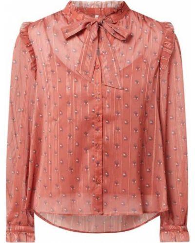 Szyfon bluzka z falbankami złoto ze stójką Pepe Jeans