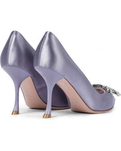 Фиолетовые кожаные туфли-лодочки с пряжкой Roger Vivier