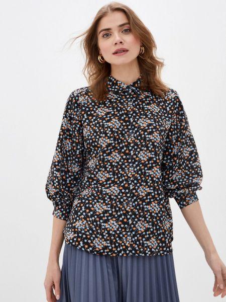 Блузка с длинным рукавом черная весенний Sela