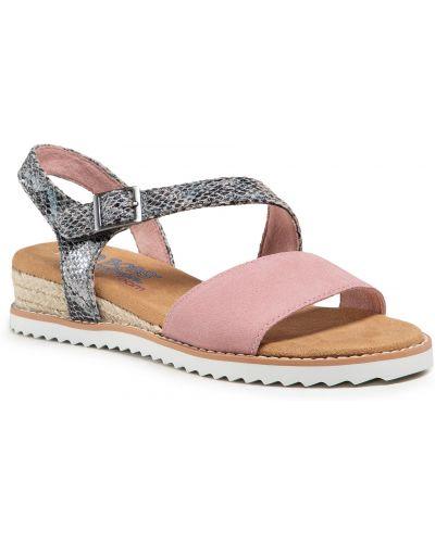 Sandały espadryle - różowe Skechers