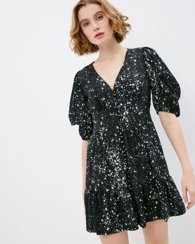 Повседневное черное платье The Kooples