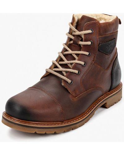 Ботинки осенние кожаные коричневый Bata