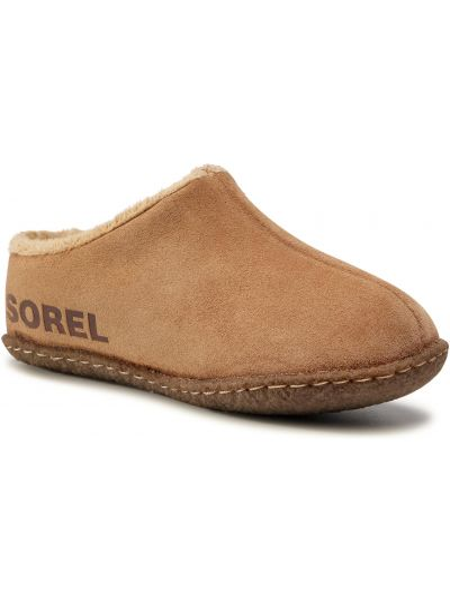 Brązowe sandały zamszowe Sorel