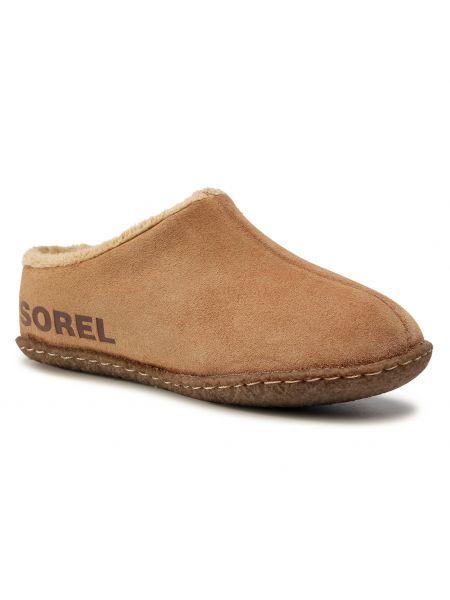 Sandały skórzane - brązowe Sorel