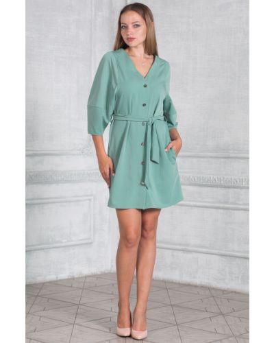 Платье с поясом на пуговицах с V-образным вырезом Lacywear