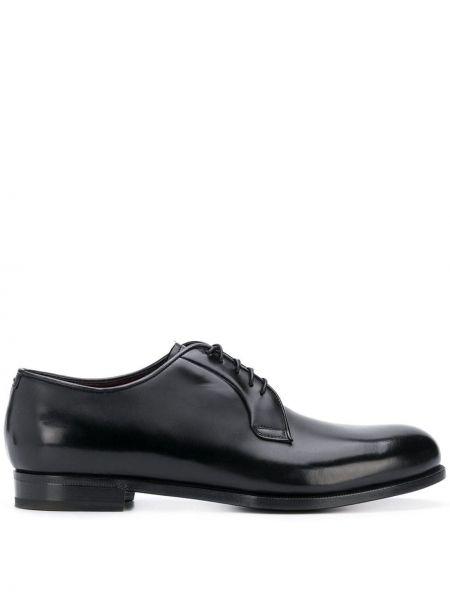 Классические черные классические туфли на каблуке на шнурках Lidfort