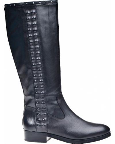 Кожаные сапоги осенние на каблуке Calvin Klein Jeans