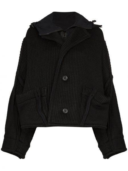 Вязаная черная длинная куртка свободного кроя Y-3