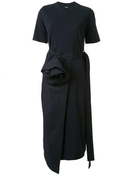 Платье мини с запахом футболка Goen.j