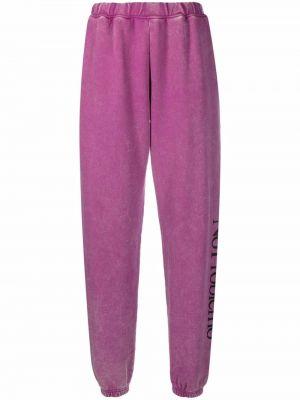 Хлопковые спортивные брюки - розовые Aries