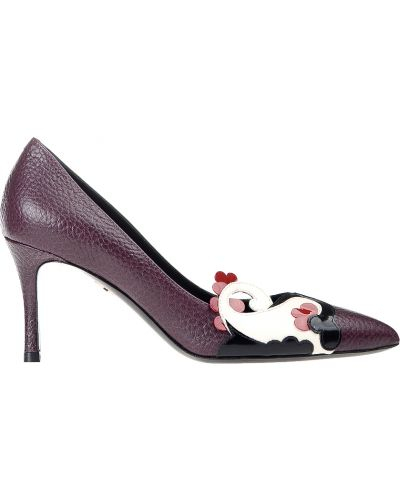 Кожаные туфли на каблуке осенние Giorgio Fabiani