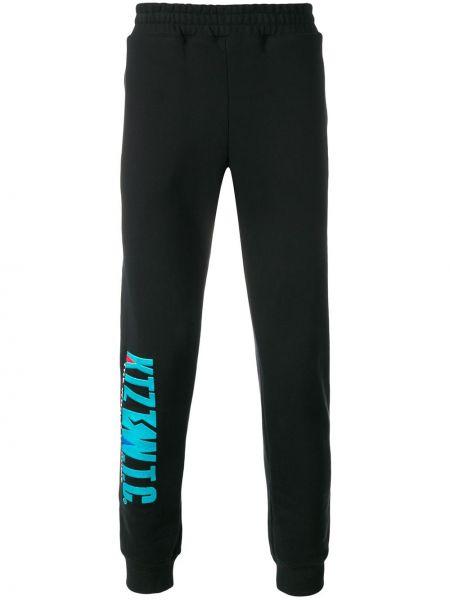 Спортивные черные спортивные брюки с вышивкой с поясом Ktz