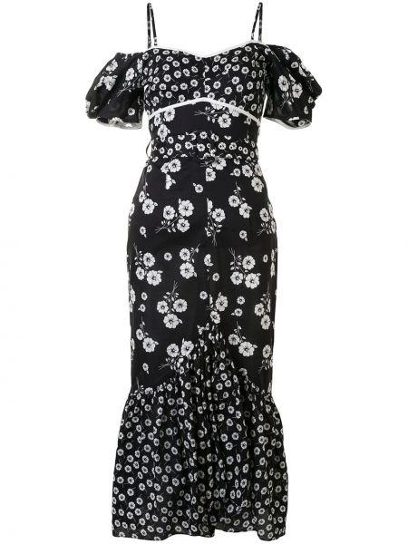 Тонкое платье миди на бретелях на молнии с вырезом Alice Mccall