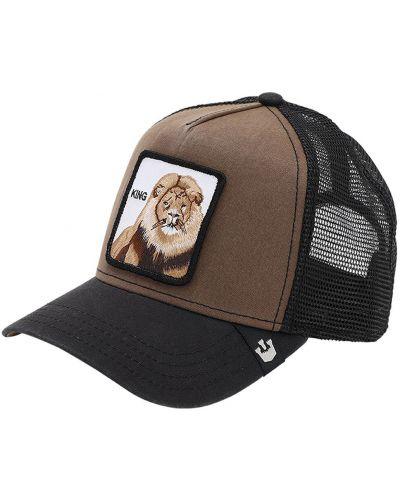 Brązowy kapelusz z haftem Goorin Bros