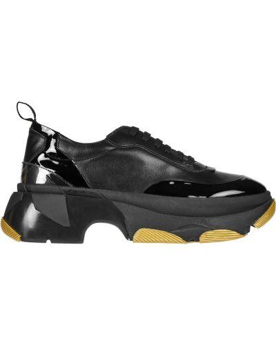Кожаные кроссовки - черные Patrizia Pepe