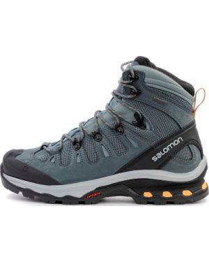 Ботинки трекинговые на шнуровке в клетку Salomon