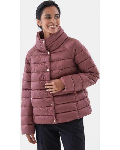Теплая красная утепленная куртка Zarina