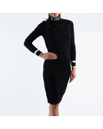 Черное вязаное платье Iceberg