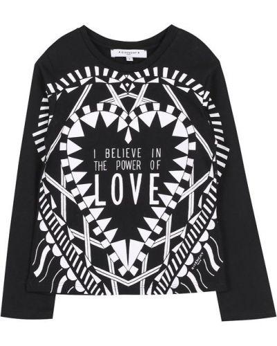 Черная футболка с надписями Givenchy