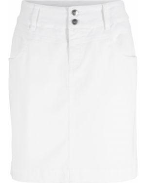 Юбка мини джинсовая с карманами Bonprix