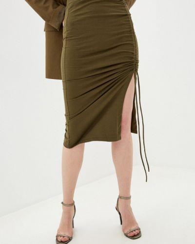 Зеленая юбка узкого кроя By Swan