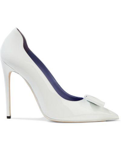 Czółenka w szpic - białe Victoria Beckham
