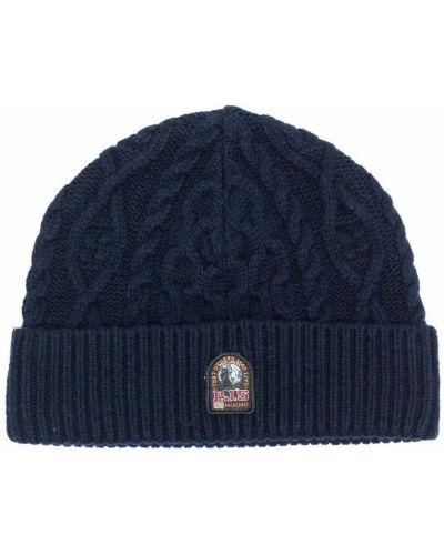 Niebieska czapka Parajumpers