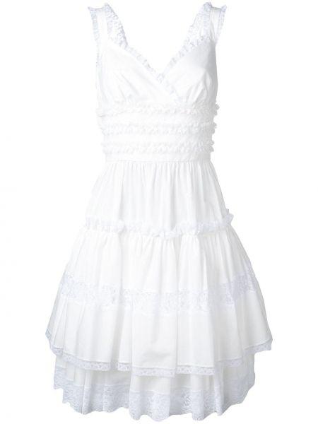 Расклешенное приталенное свадебное платье с V-образным вырезом без рукавов Dolce & Gabbana