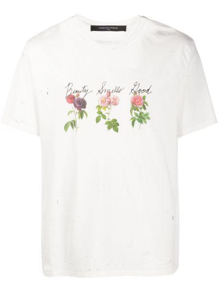 Biały t-shirt bawełniany z printem Garçons Infideles