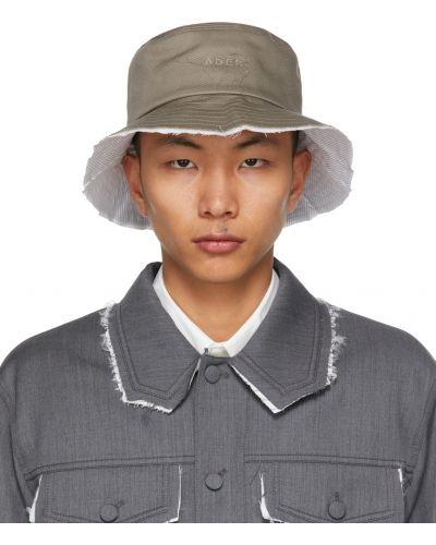 Biały kapelusz bawełniany w paski Ader Error