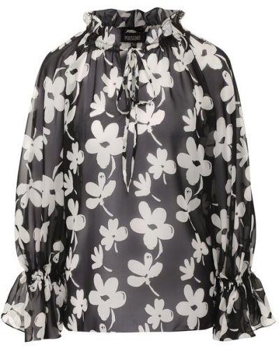 Блузка с принтом - белая Poustovit