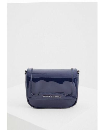 Синяя сумка через плечо Armani Exchange