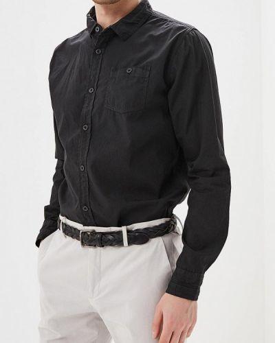 Черная рубашка с длинным рукавом Mezaguz