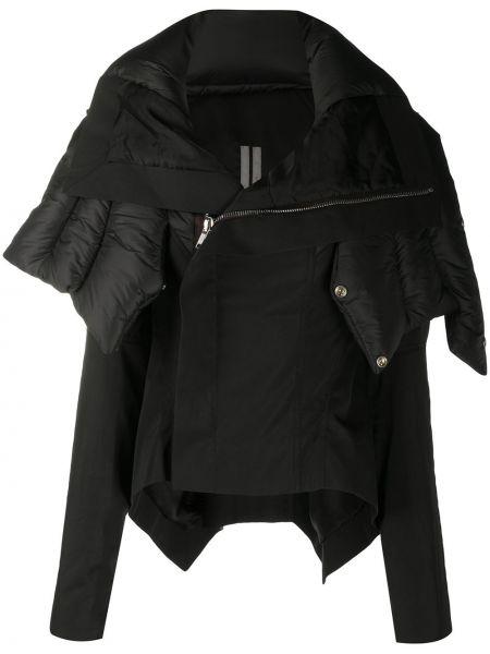 Bawełna nylon czarny długa kurtka z długimi rękawami Rick Owens