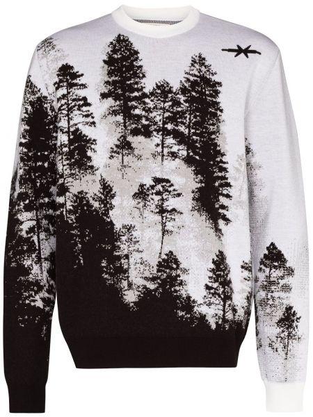 Коричневый шерстяной свитер с круглым вырезом Phipps