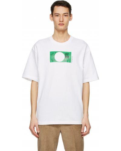 Белая футболка с воротником Acne Studios