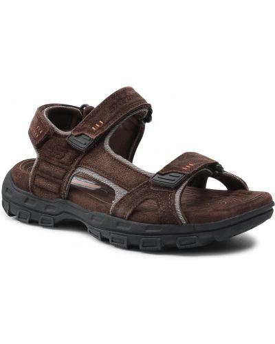 Brązowe sandały na lato Skechers
