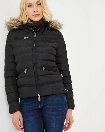 Утепленная куртка весенняя черная Lonsdale