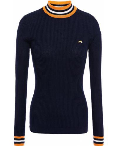 Шерстяной свитер в полоску с вышивкой Bella Freud