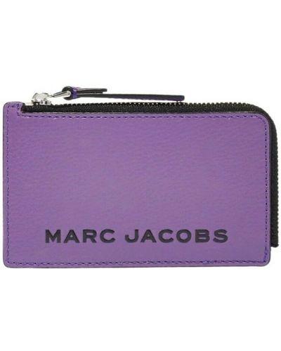 Portfel skórzany - fioletowy Marc Jacobs