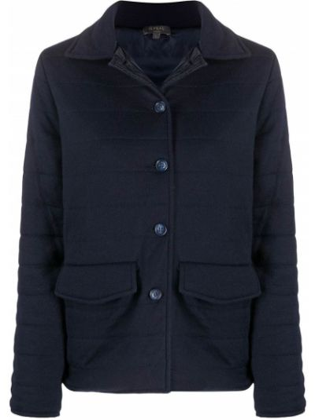 Синяя стеганая куртка с воротником N.peal