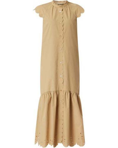 Biała sukienka midi rozkloszowana bawełniana Whistles