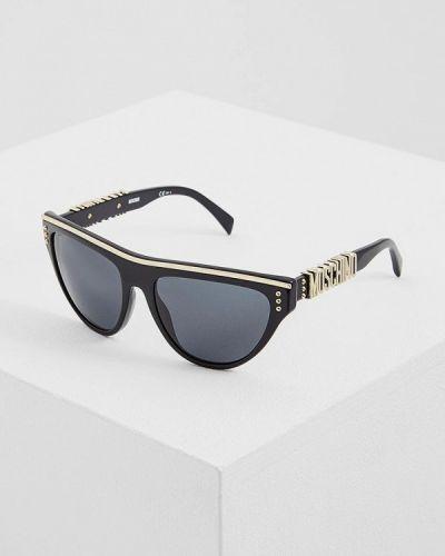 Черные солнцезащитные очки Moschino