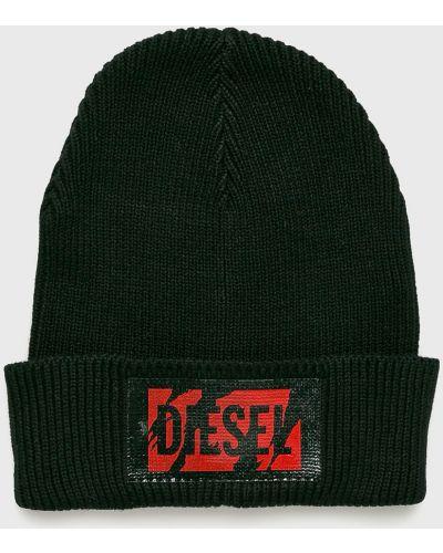 Зимняя шапка с отворотом черная Diesel