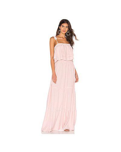Платье с поясом розовое на бретелях Bb Dakota