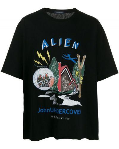Черная рубашка с короткими рукавами Johnundercover