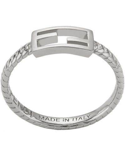 Кольцо - серебряное Fendi