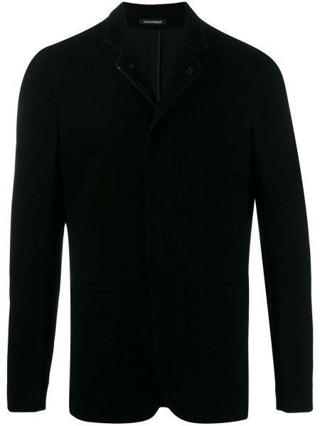 Długa kurtka niebieska kurtka Emporio Armani