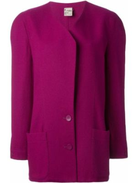 Розовая куртка с манжетами Krizia Pre-owned